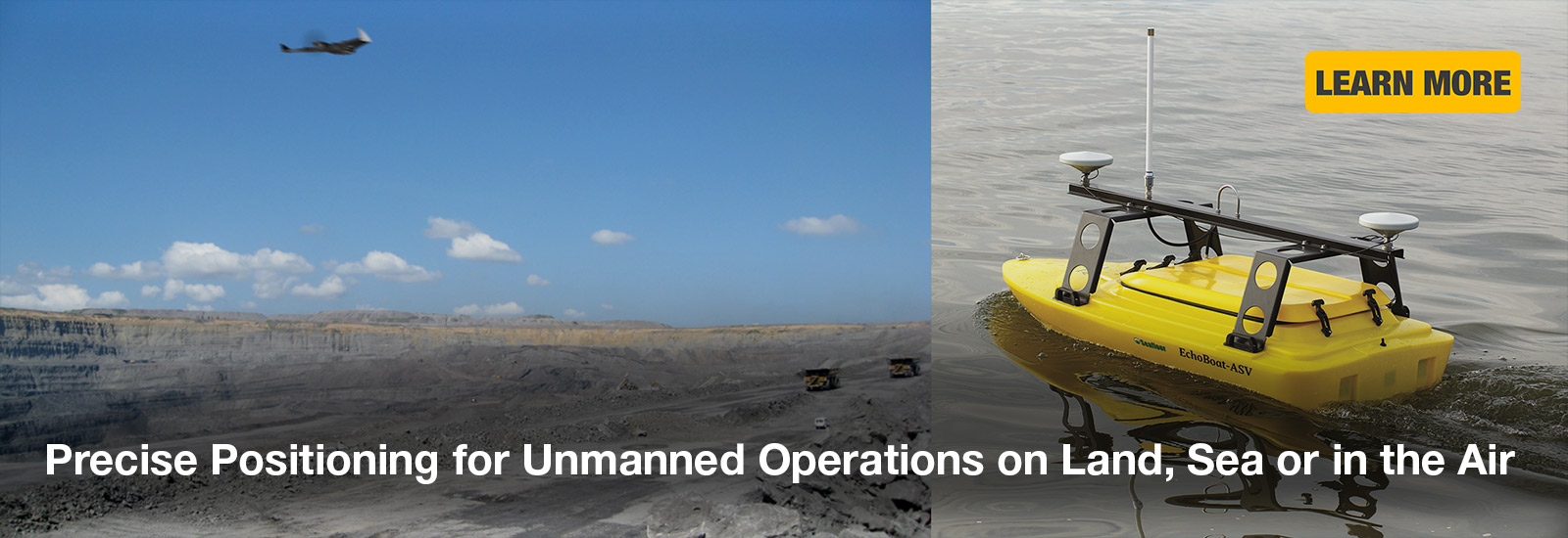Precise Positioning for Unmanned Operations on Land, Sea and in the Air