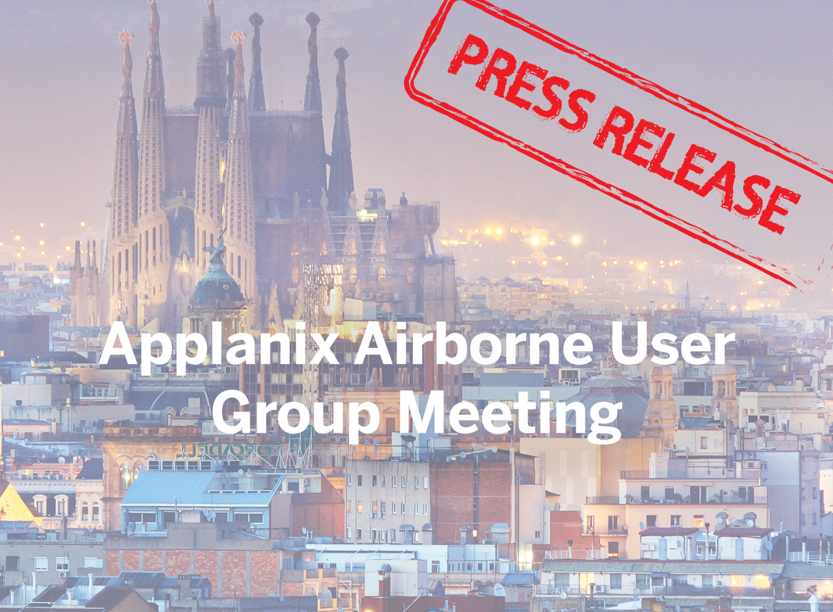 Announcing the Applanix 2018 Airborne User Group Meeting