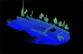 Merged Bathymetry and Laser Point Cloud